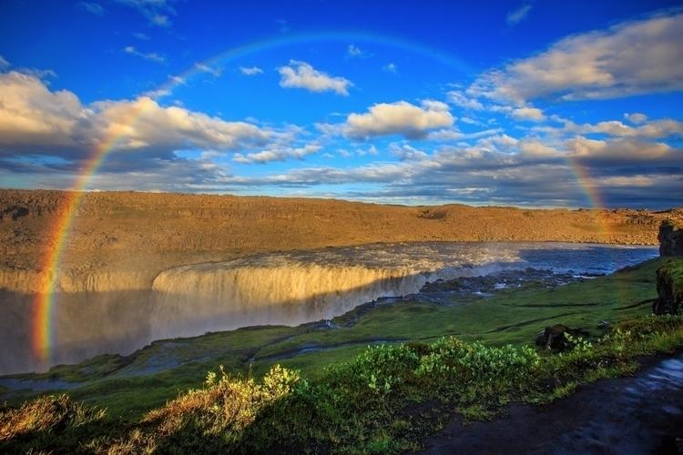 Rainbow Dettifoss waterfall Ice - turgutmakbak | ello