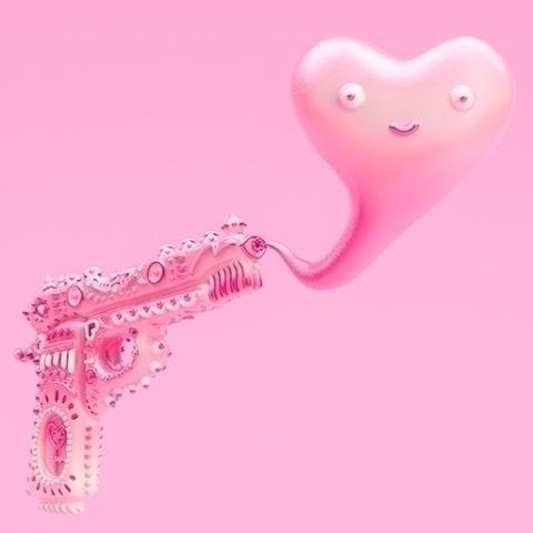 Love ammo. 3D art pink - gutlesswonder | ello
