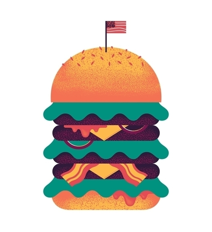 Burger illustration design artw - alconic | ello