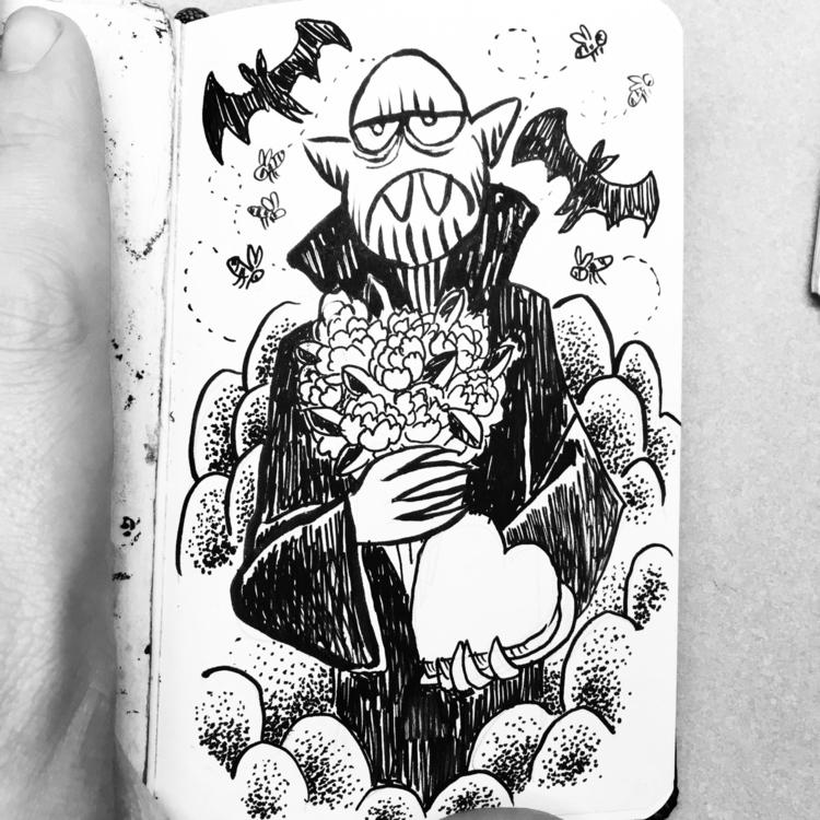 bats bees. 🦇🐝💀✨ dracula ink - royallyeric | ello