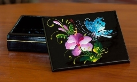 Thai Lacquered Wood Box Handpai - uniquecollectiblesgifts | ello