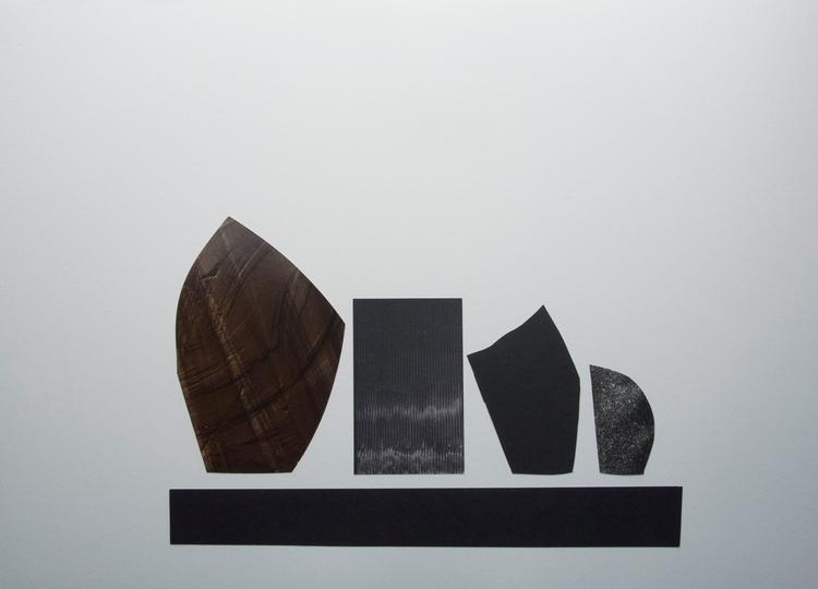 Vases mantelpiece, Collage art  - wrjenkinson | ello