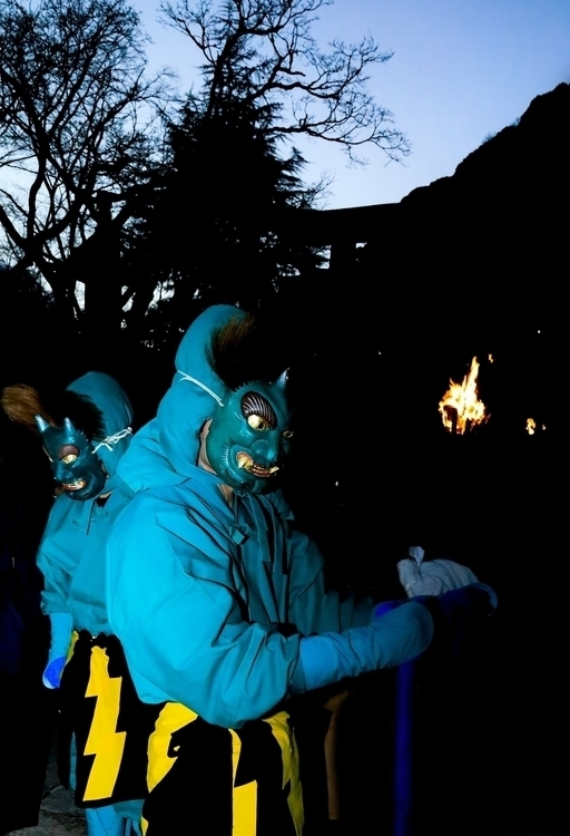 Blue evil. / bean throwing cere - miki_abe | ello
