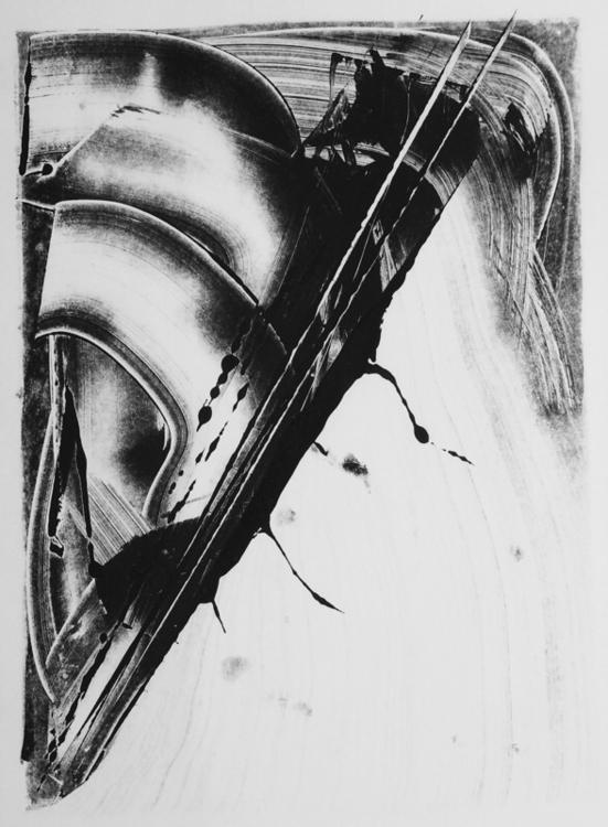 art print monotype blackandwhit - mlui   ello