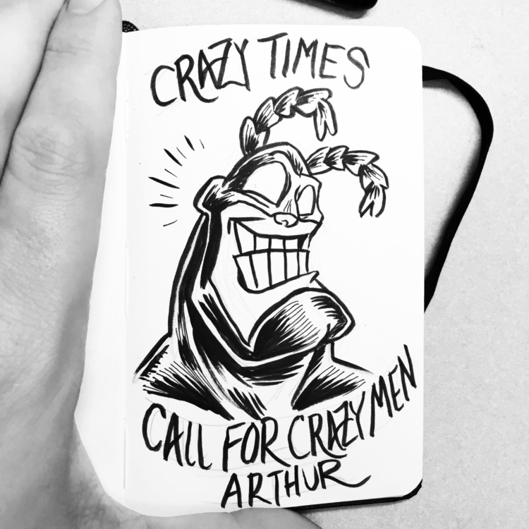 crazy times hero! thetick resis - royallyeric | ello