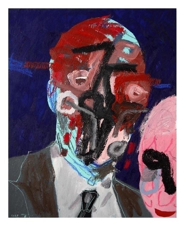Portrait 30. 50x40cm, 2015. art - carpmatthew   ello