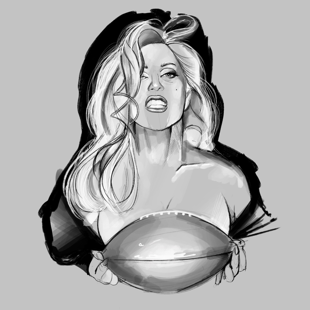 good luck Gaga Illustration lad - fmonroyr | ello