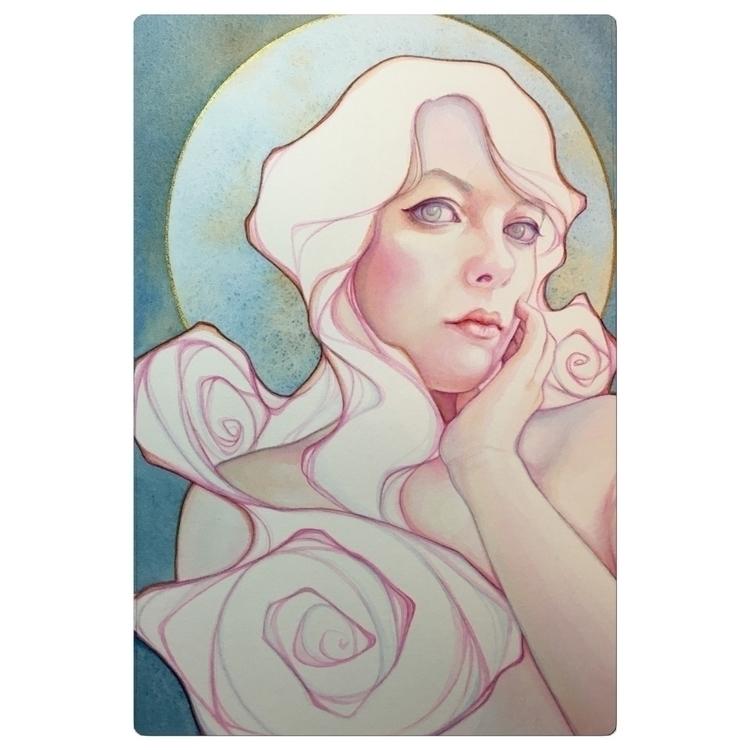 Luna Nouveau watercolor artnouv - tracylewisart | ello