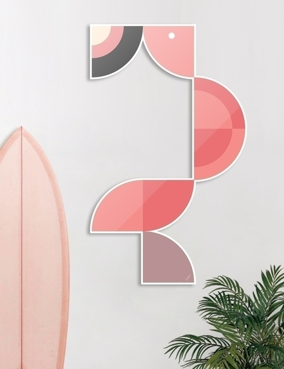 Quadrant Flamingo Animals Serie - carterson | ello