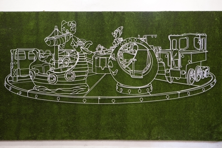 Ibiza, 350cm 150cm (WIP), Paint - hierroglyphic | ello