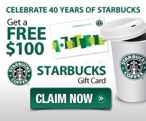 $100 Starbucks Gift Card offer  - marryclaudetterbell   ello