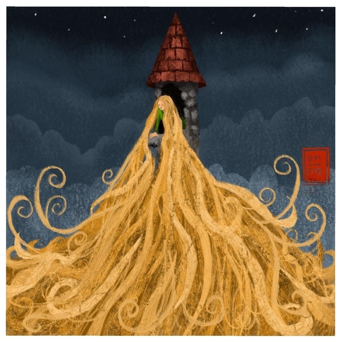 Rapunzel illustration - doodlesmarc   ello