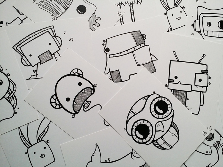 Mini doodle print packs stock l - stinajones | ello