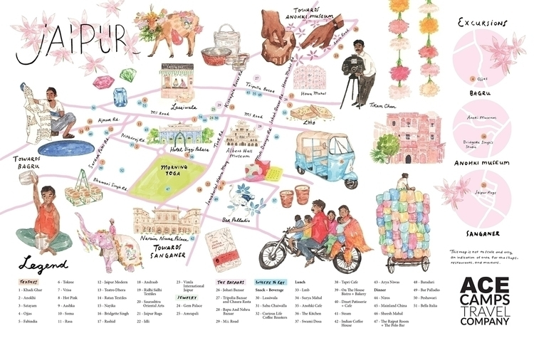 vibrant illustrated guide map J - patternsandportraits | ello