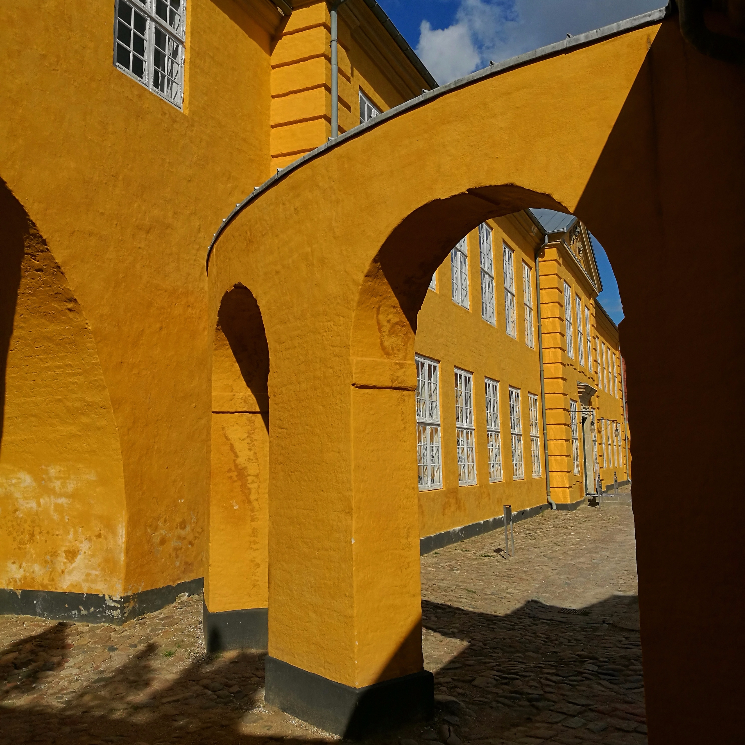 Ochre arches abstract play, Dan - estelleclarke | ello