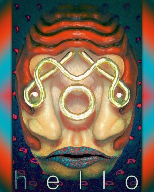 3D portrait mask totem digitala - frank_yunker | ello