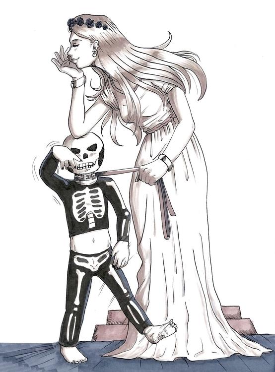 Upset skull kid - illustration, traditionalillustration - mahavigan | ello