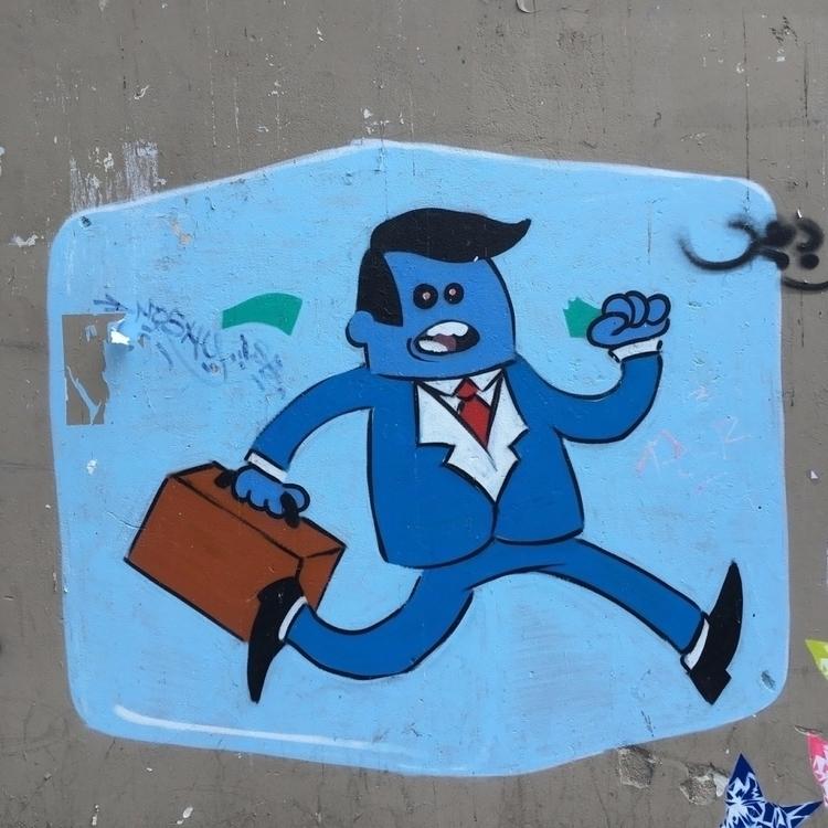 Hurry - streetart, street, streetartist - philippefabry | ello