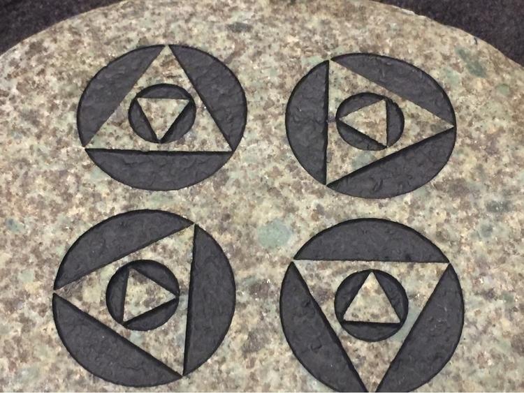 Listed sand carved stones Etsy  - tundrafox | ello