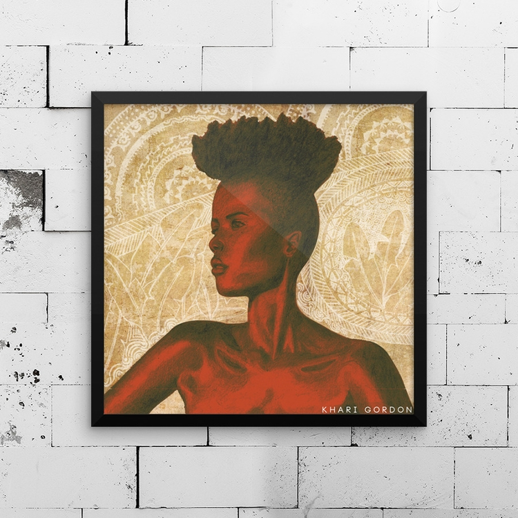 khari kamau - blackart, prints, drawing - kharikamau   ello