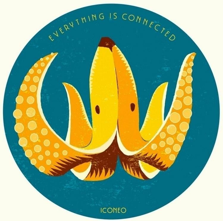 bananoctopus - banana, octopus, illustration - iconeo | ello