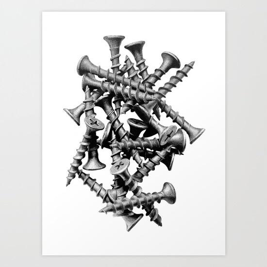 Screws print - lucaswade | ello