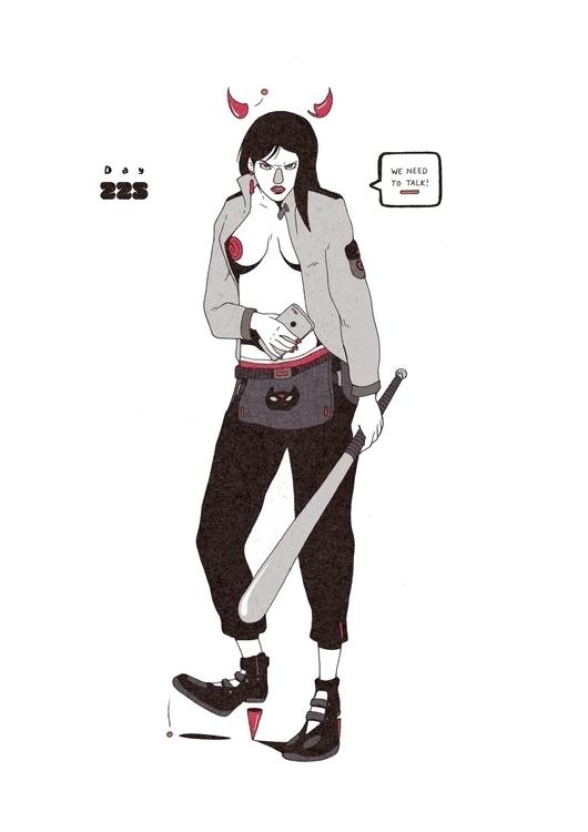 Day 225/365: Talk - illustration - 1sles | ello