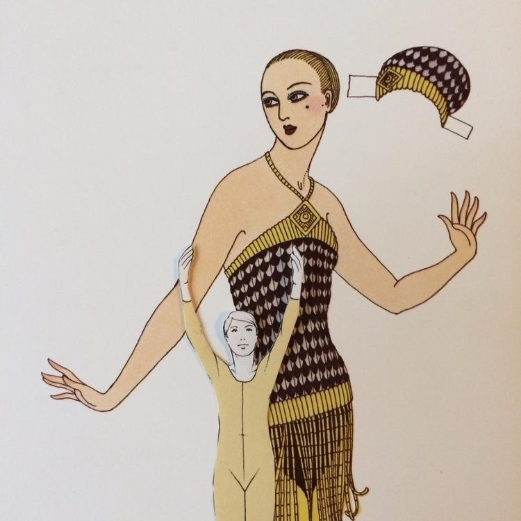 Unglues series. Paper doll 01 - fashion - danielletcole | ello