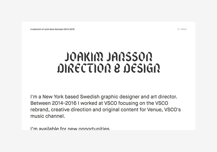Website York based graphic desi - northeast | ello