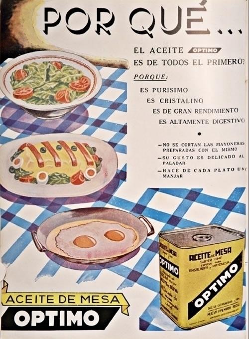 Aceite Optimo - Montevideo 1937 - alvaro54   ello