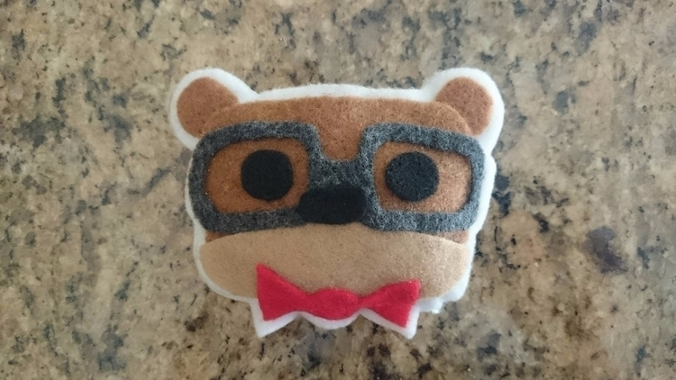 spiffy bear - bowtie, glasses, felt - jchuynh | ello