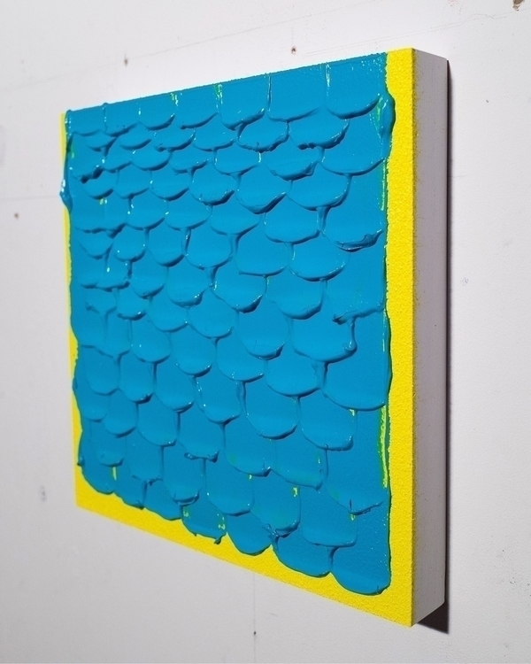 Teal Yellow Light 12 Acrylic wo - andrew_faris | ello
