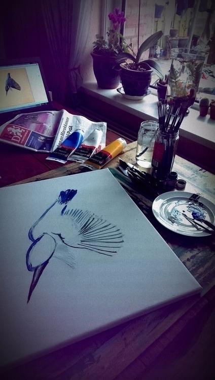 Cleoart - Painting, acrylic, bird - cleoart   ello