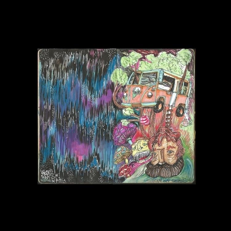 2 tabs magic mushrooms - artwork - drugquests | ello