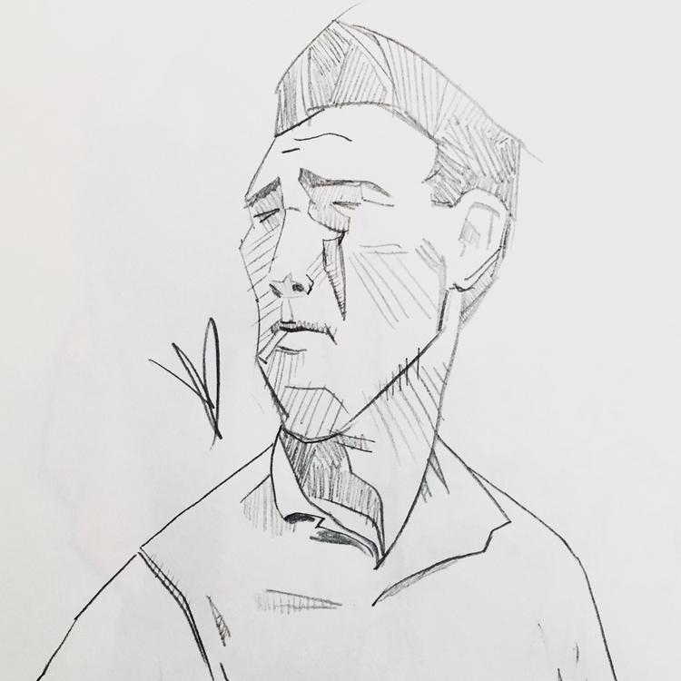 Arnold Palmer - portrait, sketchbook - evandileo | ello