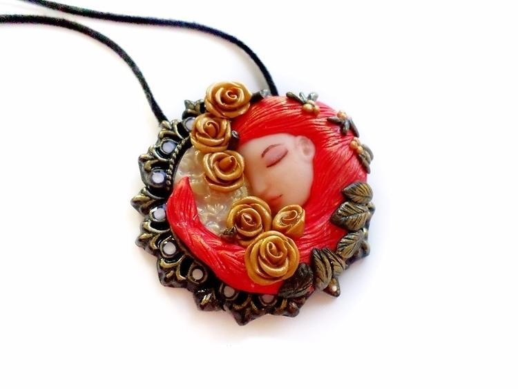 Art Nouveau pendant - handmade, artnouveau - abigailsmycken   ello
