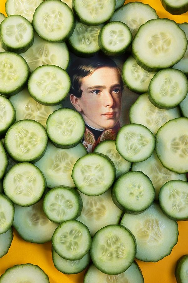 Target, Homage Jasper Johns - cucumber - zeren   ello