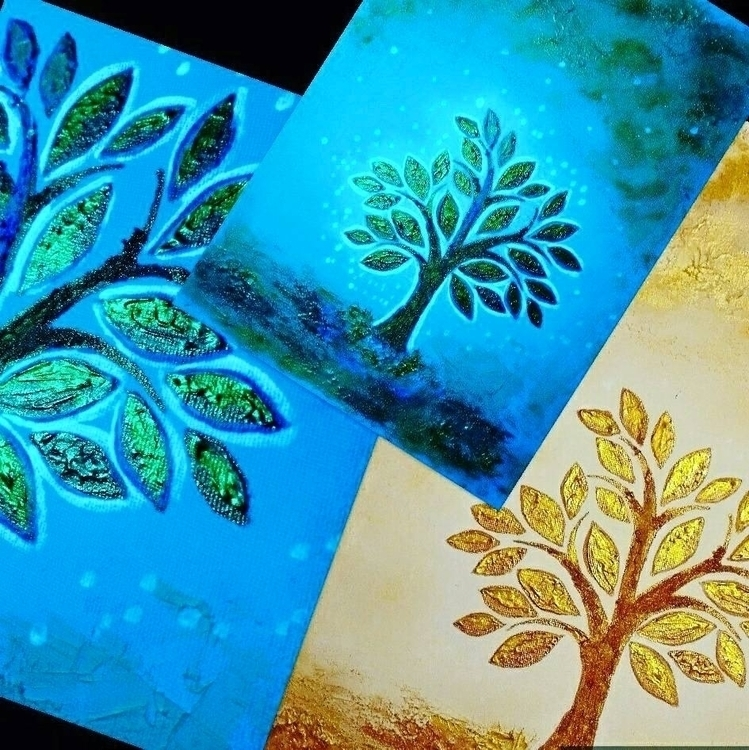 UV Effect + Painting / Day &amp - cristalpainting | ello