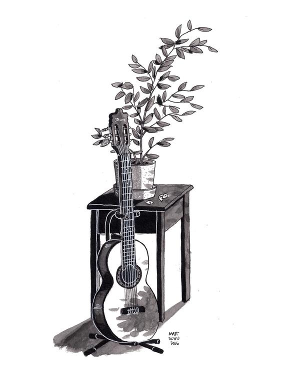 Ink drawing - art, illustration - mattschu | ello
