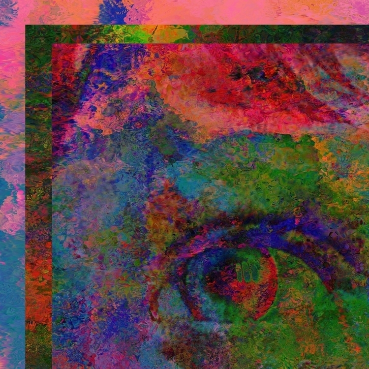 Psychedelic eye - abstractexpressionism - kunst_mann | ello