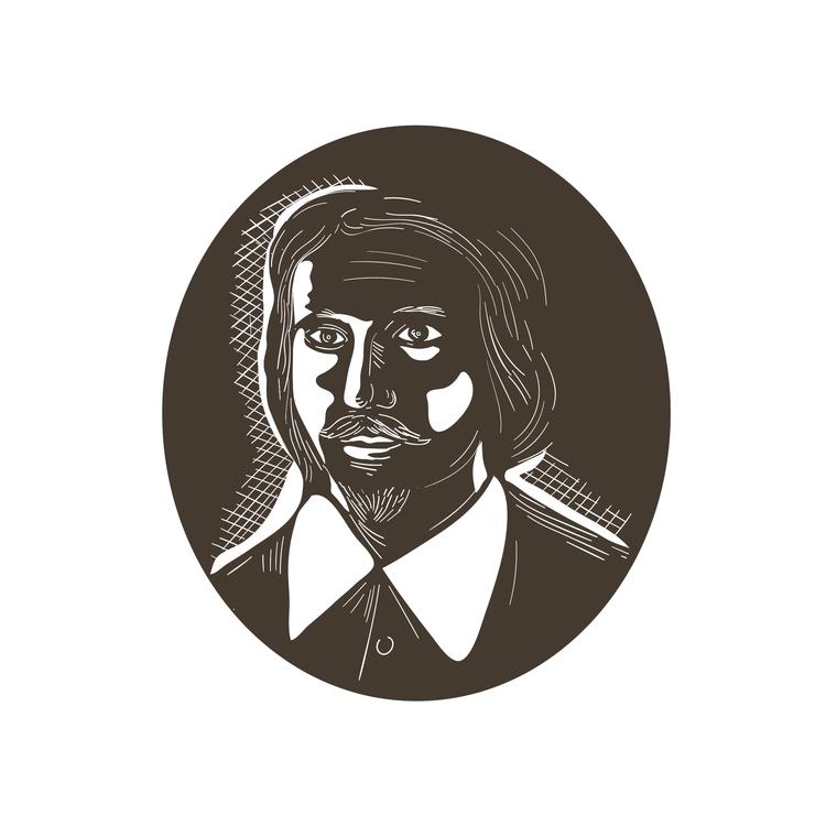 Oval - 16th, Century, Poet, Woodcut - patrimonio | ello