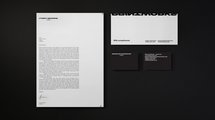 launched identity Printworks –  - onlystudiouk | ello