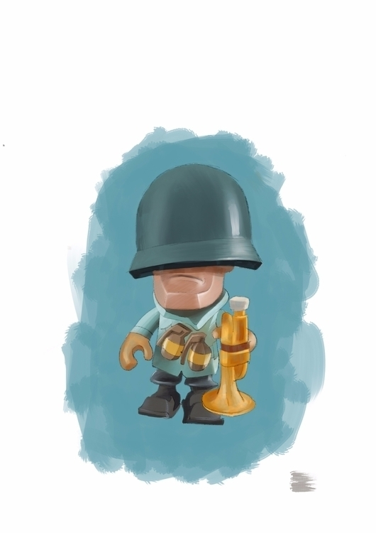 quick painting action figures - crapatquake | ello