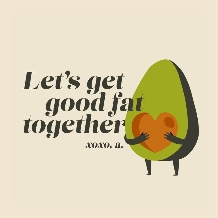 happy avocadotines day - illustration - ebencom   ello