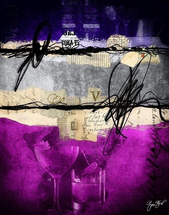 Sleepless Lavender - collage, mixedmedia - ginastartup | ello