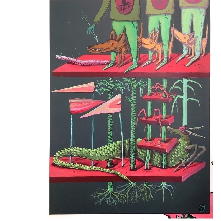 80 cm|| - roots, imaginary, contemporarypainting - viktoriageorgievamouse | ello