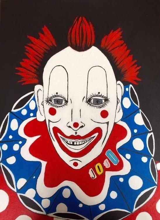 Jojo Clown - Acrylic 24X36 Comm - iforgetwhat8was4 | ello
