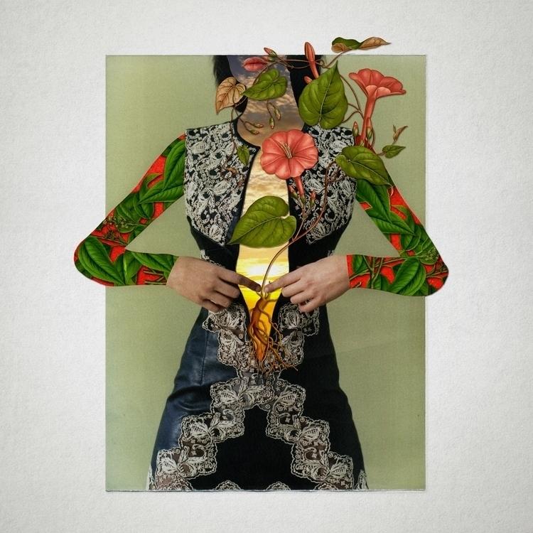Woman black Paper collage 40 - collageart - santasombra | ello