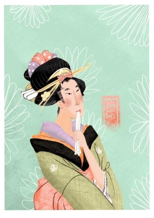 version Utamaro picture - illustration - doodlesmarc   ello
