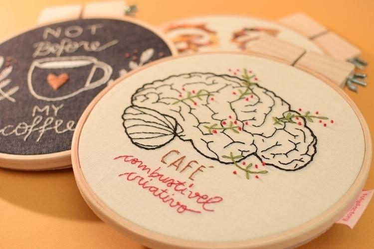Embroideries coffee-theme exhib - fofysfactory | ello